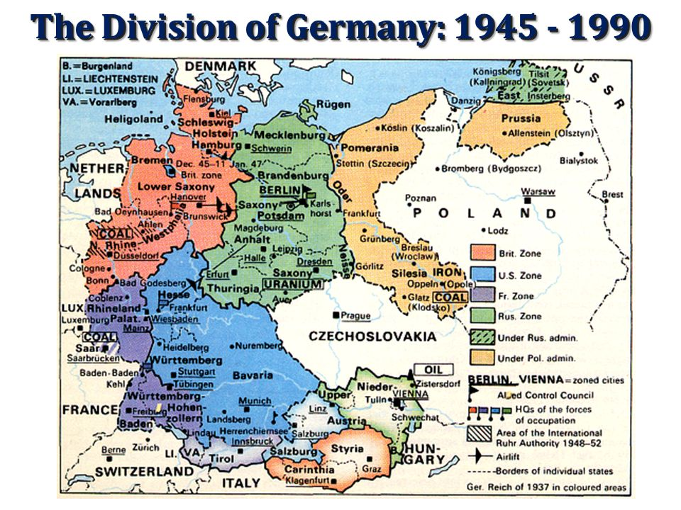 The Aftermath of World War II The United States formally ended hostilities with Germany on October 19, 1951. West Germany would accept neither the div