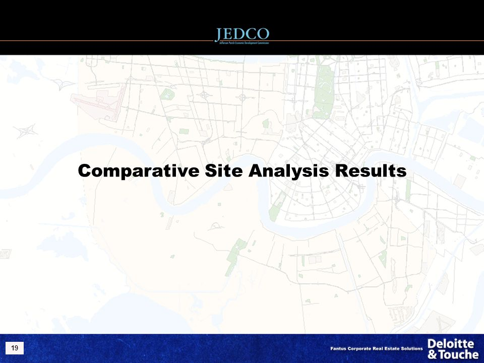 19 Comparative Site Analysis Results