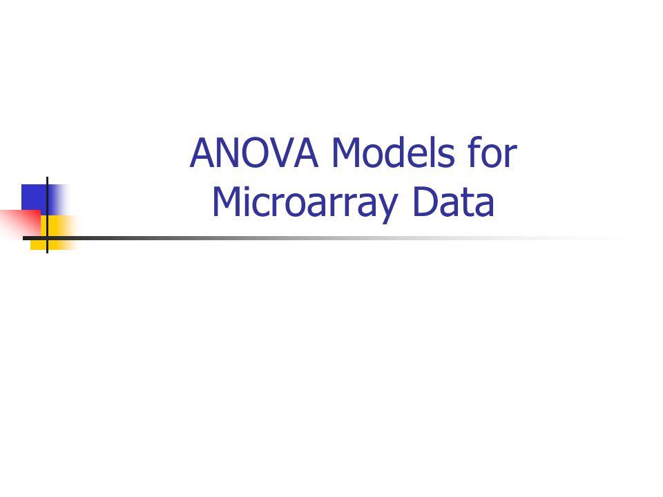 ANOVA Models for Microarray Data