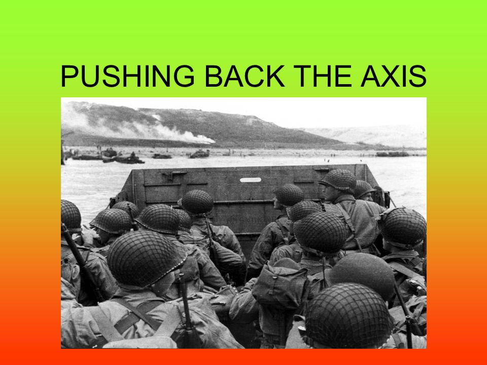 PUSHING BACK THE AXIS