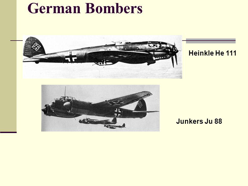 German Bombers Heinkle He 111 Junkers Ju 88