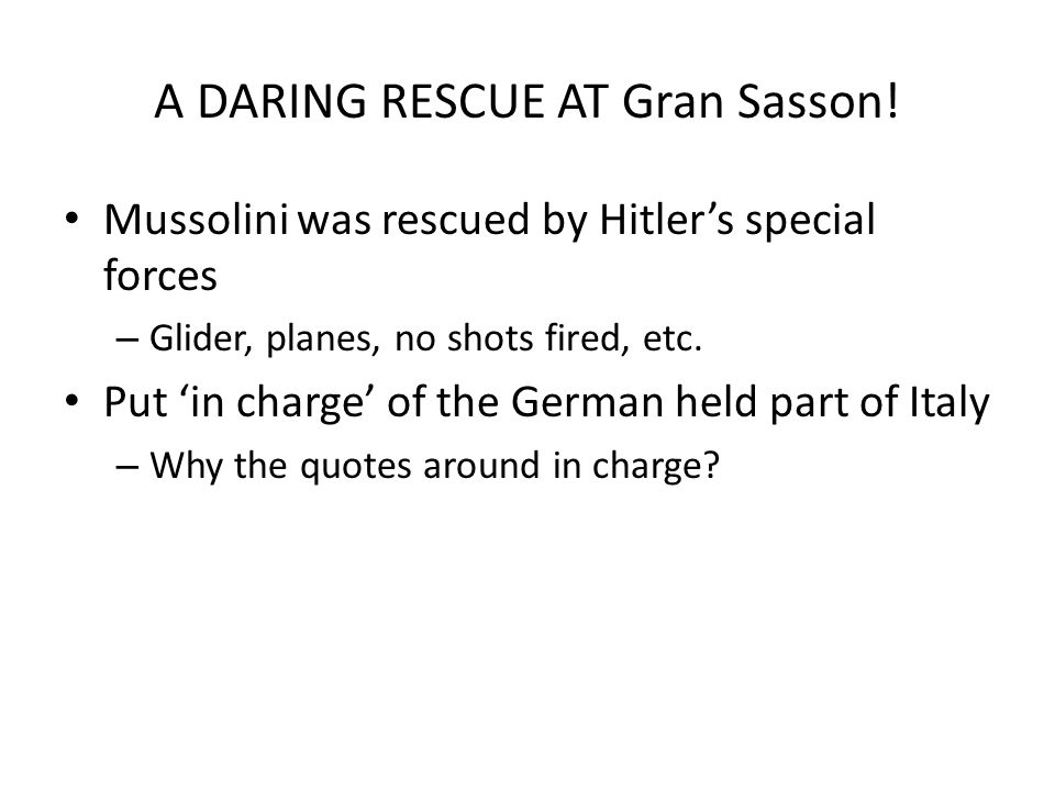 A DARING RESCUE AT Gran Sasson.