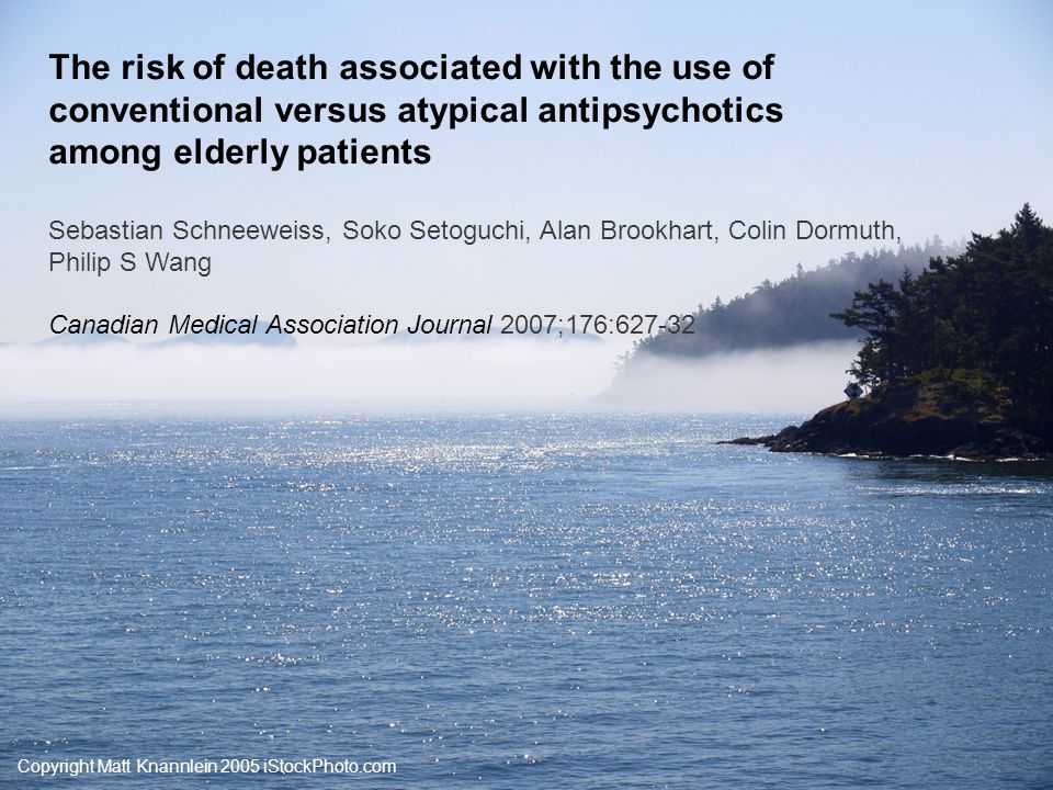 Copyright Matt Knannlein 2005 iStockPhoto.com BMJ's PICO format: Study question Do conventional antipsychotic drugs pose risks equal to or greater than those associated with newer, atypical drugs in an elderly population?