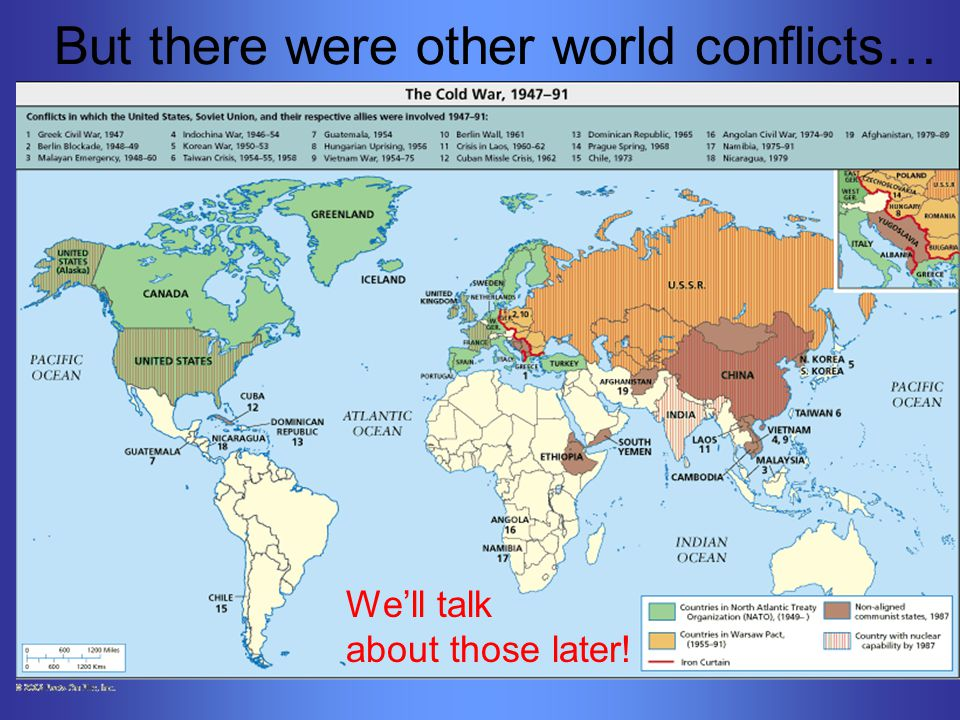 But there were other world conflicts… We'll talk about those later!