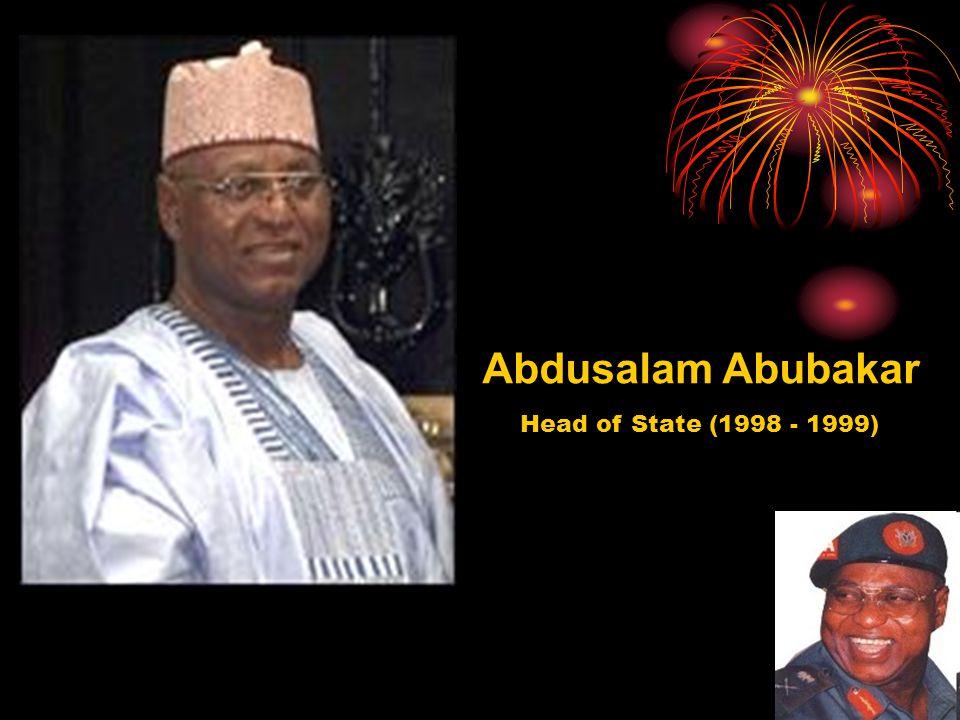 Abdusalam Abubakar Head of State (1998 - 1999)