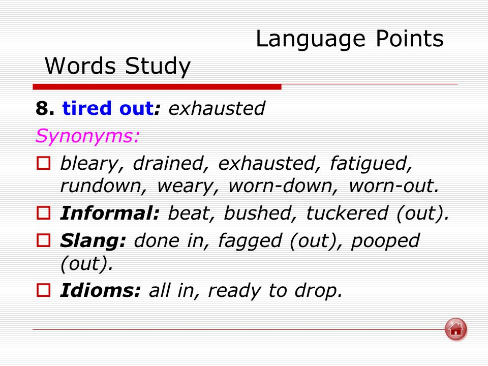 Language Points Words Study 8.
