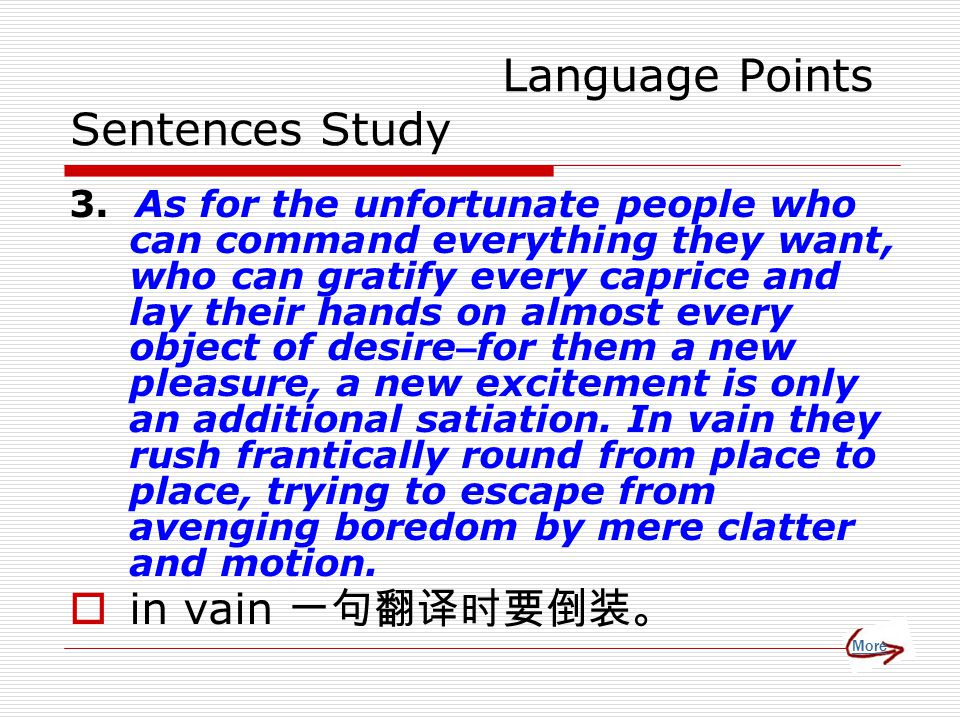 Language Points Sentences Study 3.