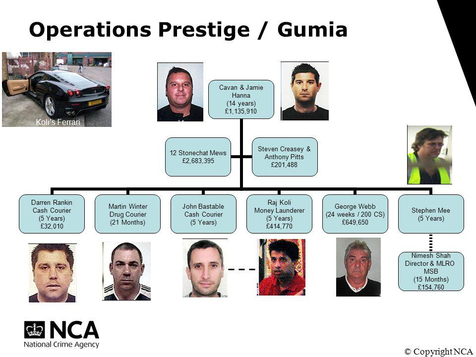 Operations Prestige / Gumia © Copyright NCA Koli's Ferrari