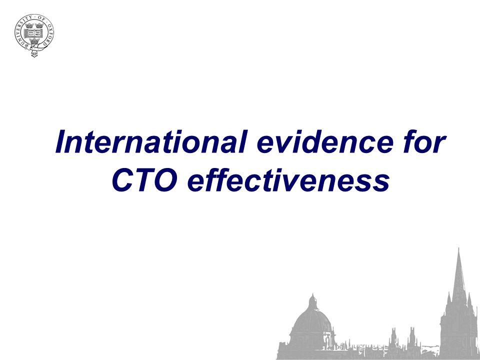 International evidence for CTO effectiveness