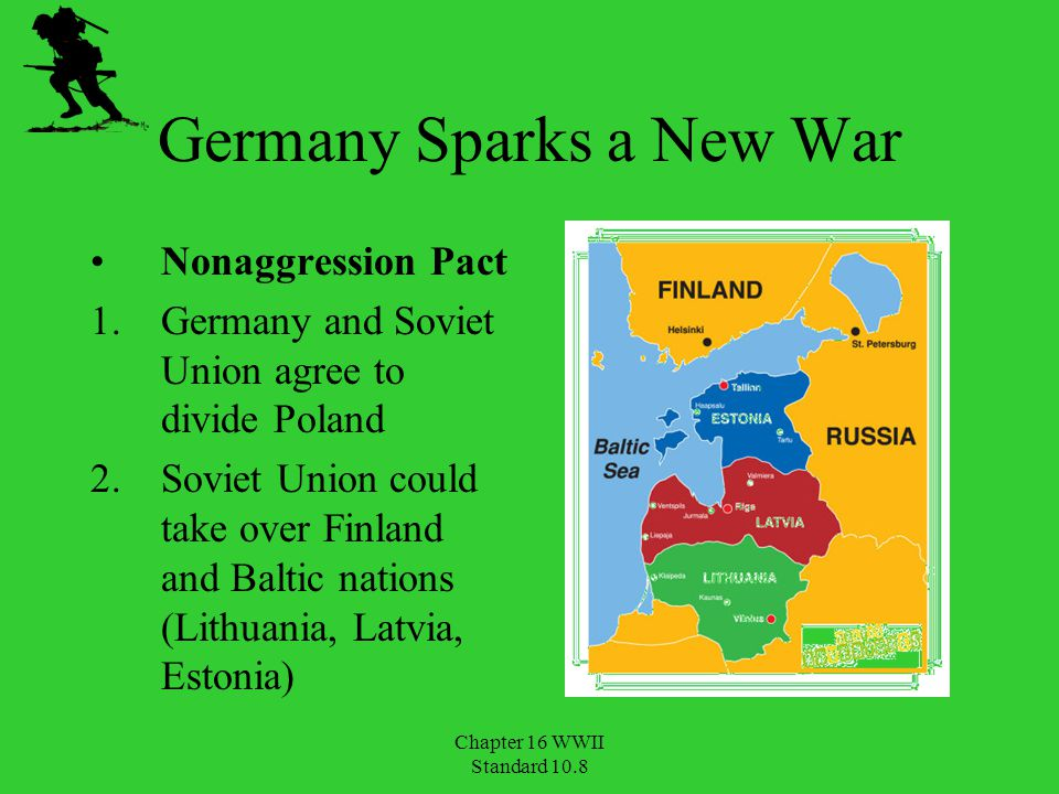 Chapter 16 WWII Standard 10.8 Germany's Lightning Attack September 1, 1939 invasion of Poland France and Britain declare war blitzkrieg