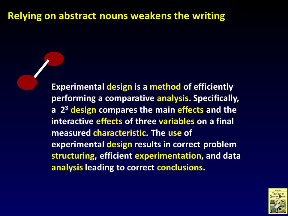 Experimental design is a method of efficiently performing a comparative analysis.