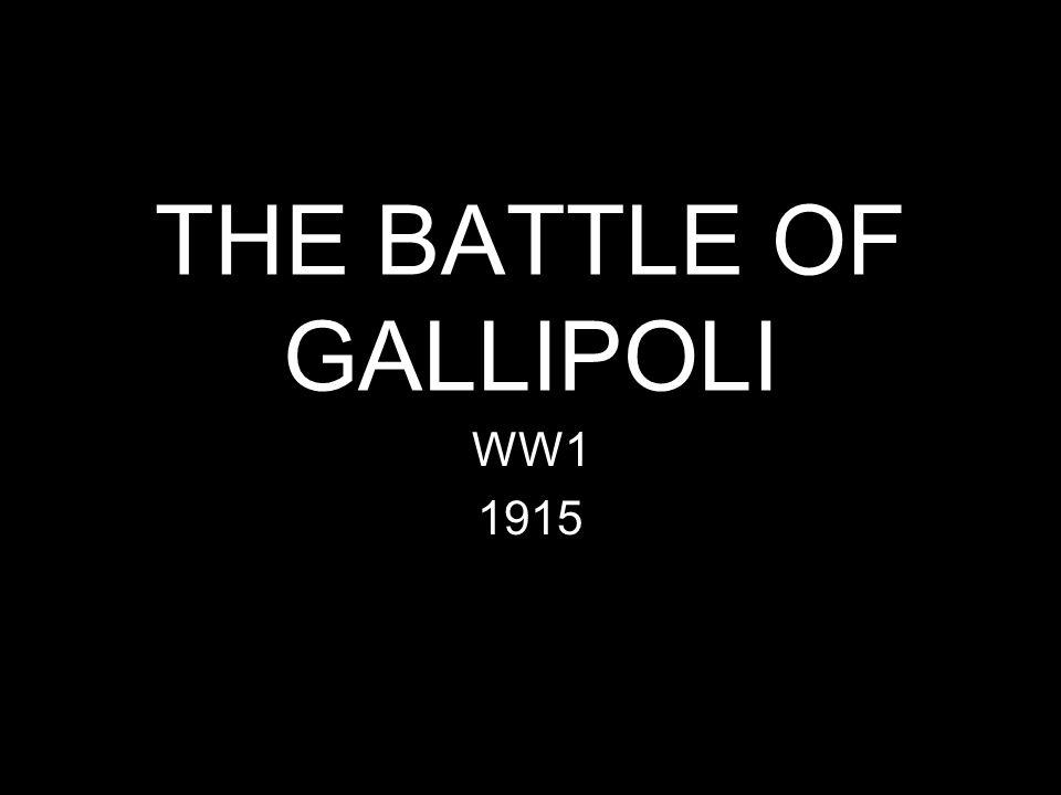 THE BATTLE OF GALLIPOLI WW1 1915