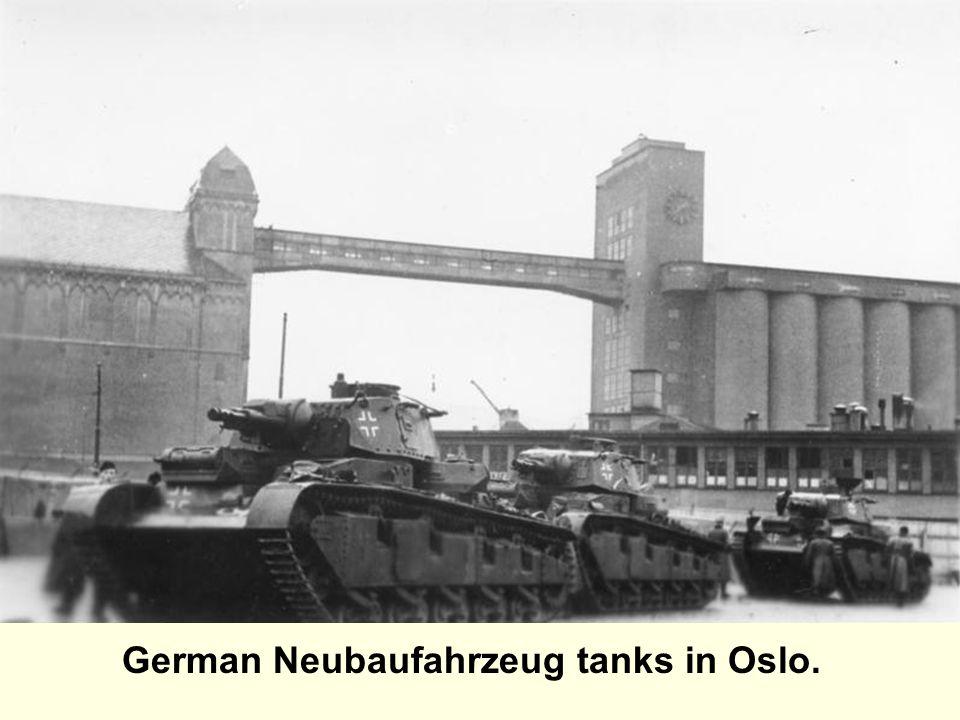 German Neubaufahrzeug tanks in Oslo.