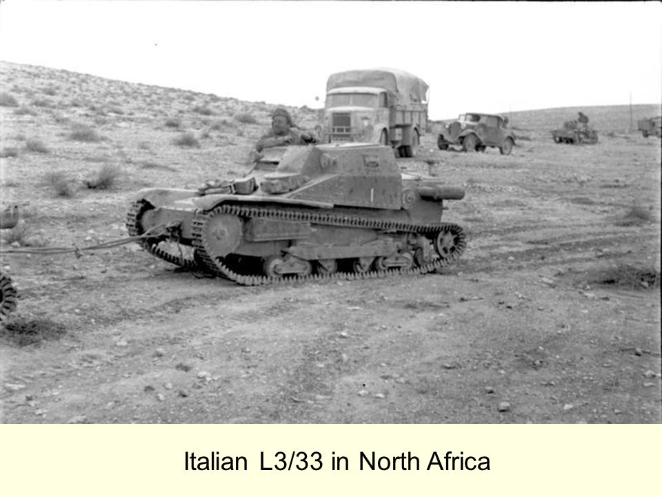 Italian L3/33 in North Africa