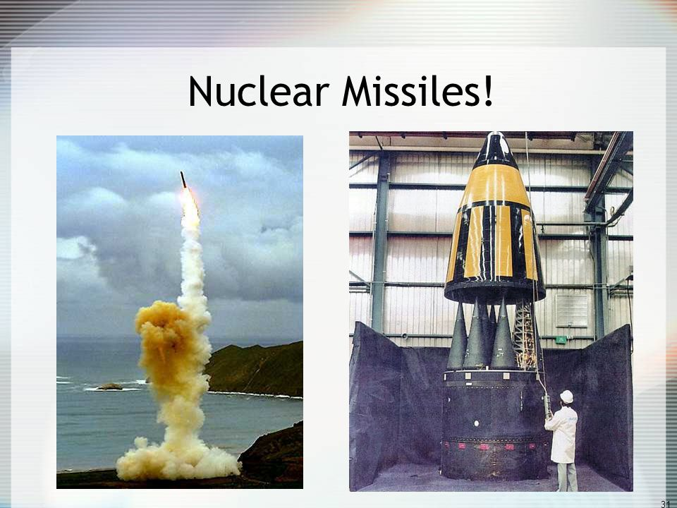 Improve your knowledge The nuclear bomb gave America a lead which was expected to last at least 5 years.