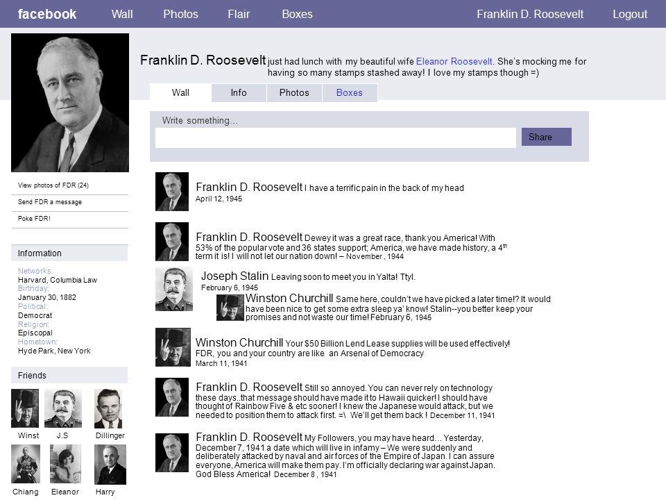 Personal Information facebook Franklin D.