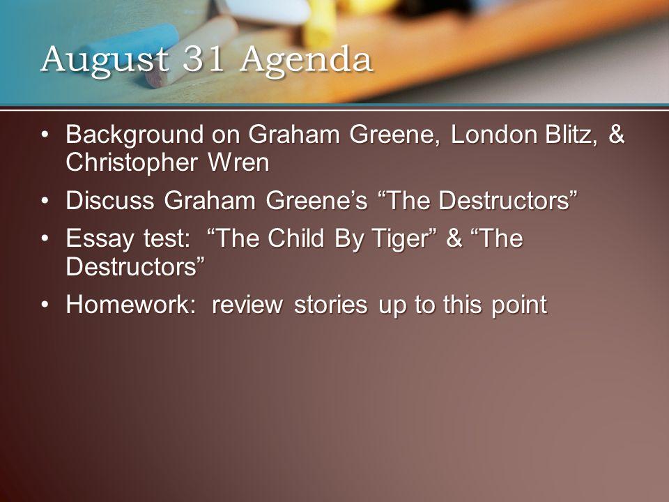 """Background on Graham Greene, London Blitz, & Christopher WrenBackground on Graham Greene, London Blitz, & Christopher Wren Discuss Graham Greene's """"Th"""