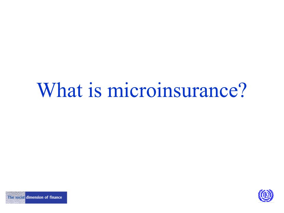 What is microinsurance