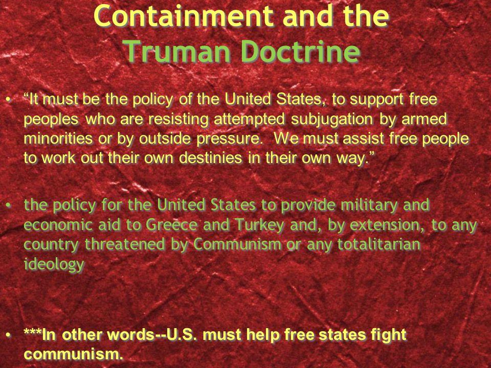Containment, cont.Containment: U.S.