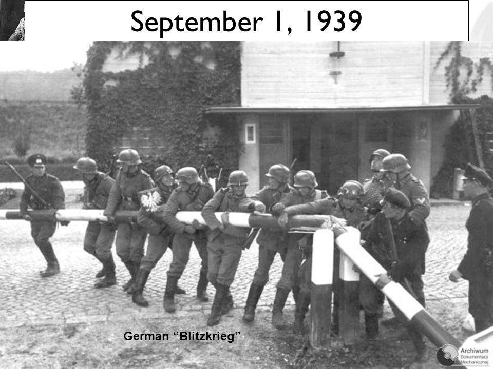 """Poland Attacked: Sept. 1, 1939 Blitzkrieg [""""Lightening War""""]"""