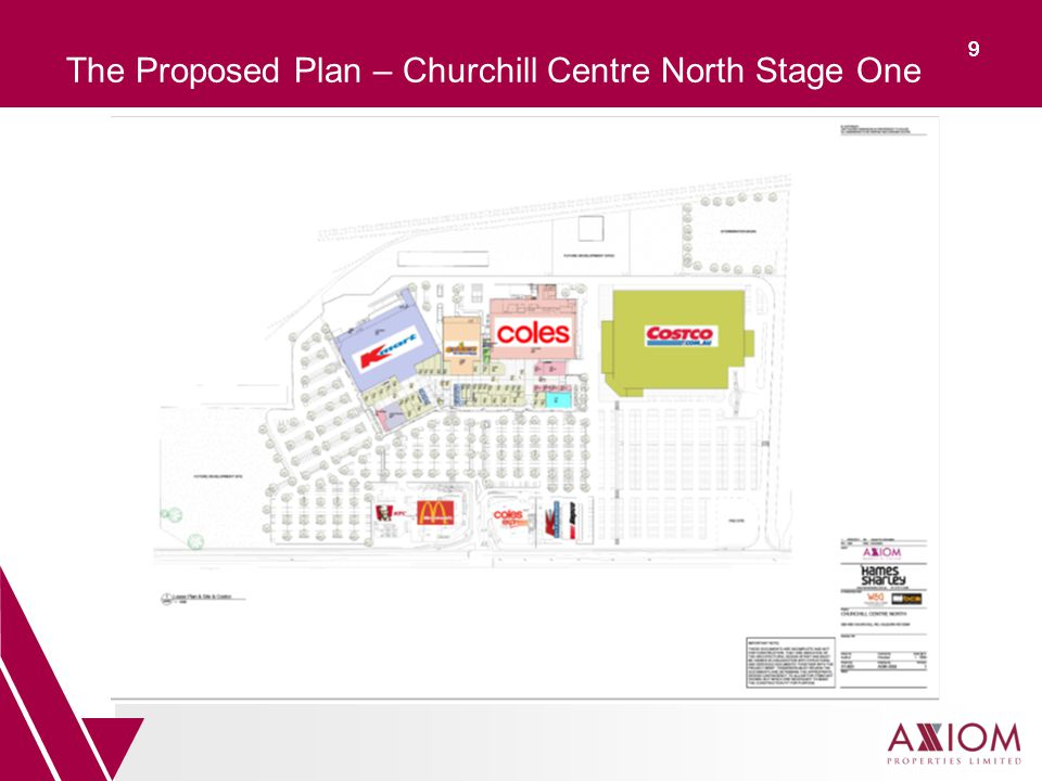 99 The Proposed Plan – Churchill Centre North Stage One