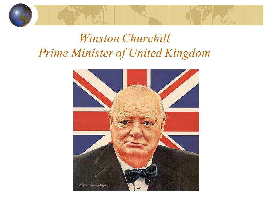 Winston Churchill Prime Minister of United Kingdom
