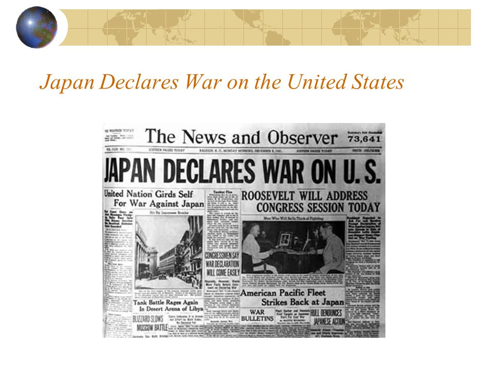 Japan Declares War on the United States