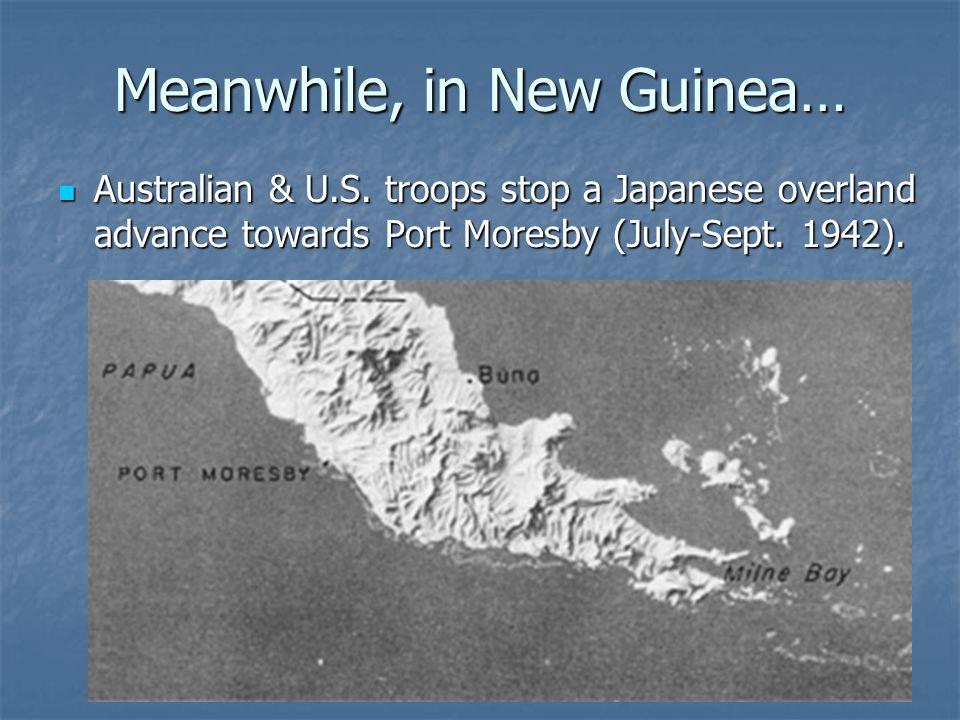 Meanwhile, in New Guinea… Australian & U.S.