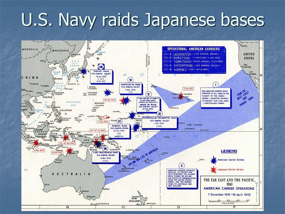U.S. Navy raids Japanese bases