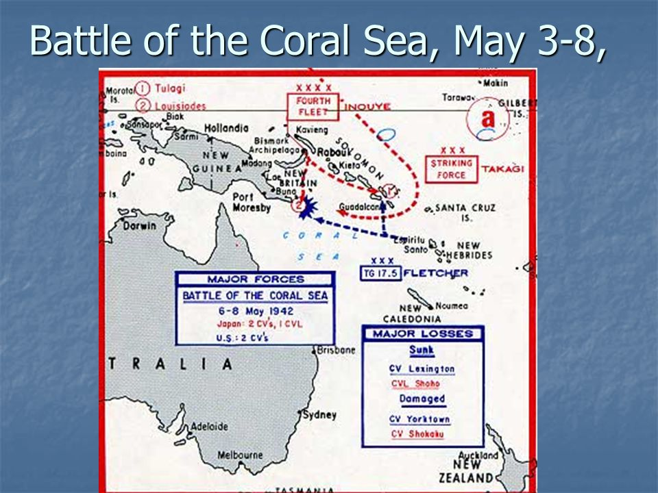 Battle of the Coral Sea, May 3-8, 1942