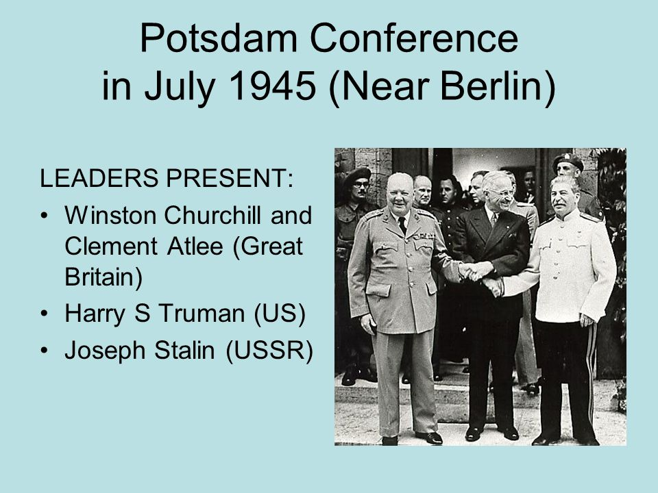 Sources of Distrust between US and USSR that led to the Cold War Different political and economic systems (US democratic and capitalist and USSR communist) Disagreement in WWII over when the US would start a second front against Germany US didn't tell USSR about our atomic bomb program Soviet Union broke Yalta Conference pledge to allow free elections in Eastern Europe Truman Stalin