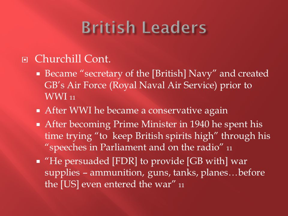  Churchill Cont.