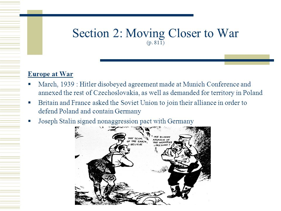 Section 2: Moving Closer to War (p.