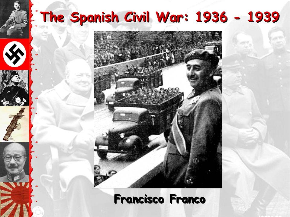 The Spanish Civil War: 1936 - 1939 The American Lincoln Brigade