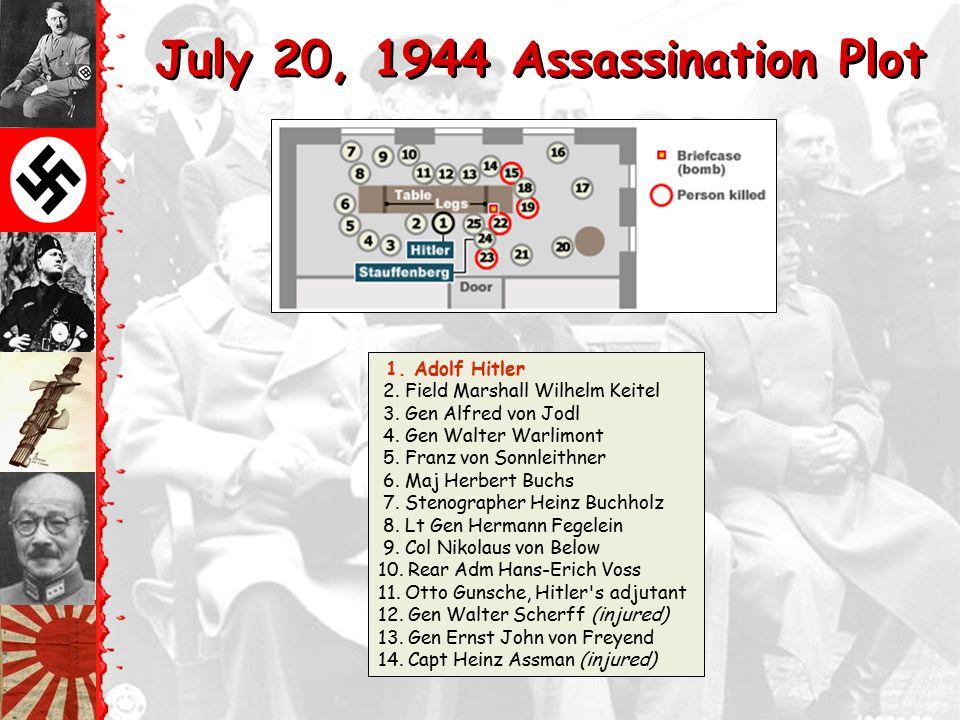 July 20, 1944 Assassination Plot Major Claus von Stauffenberg