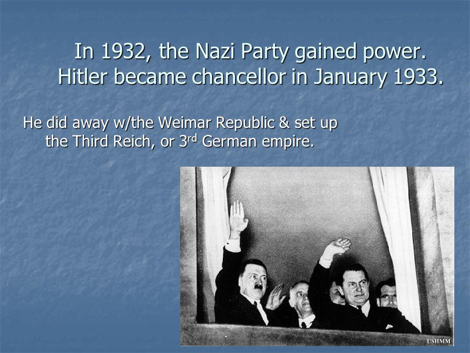 On November 9, 1938, organized, violent persecution began with Kristallnacht.