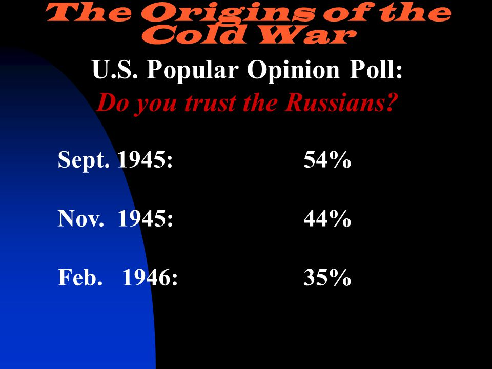 U.S. Popular Opinion Poll: Do you trust the Russians.