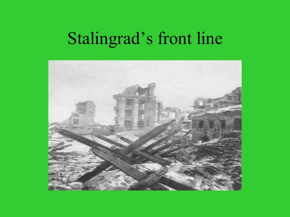 Stalingrad's front line