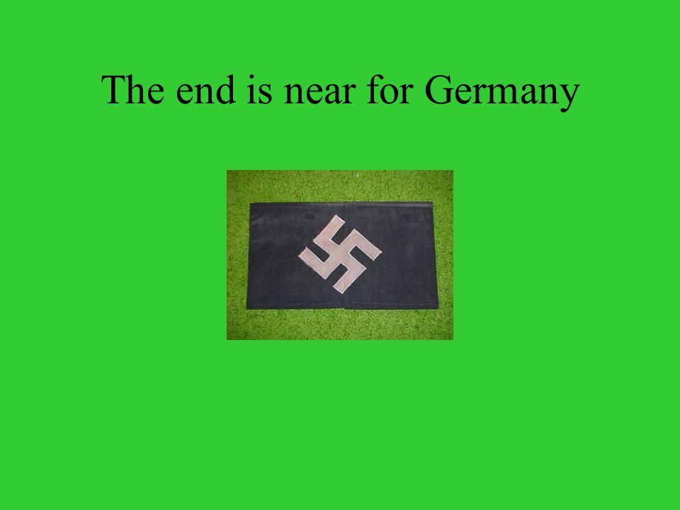 The end is near for Germany