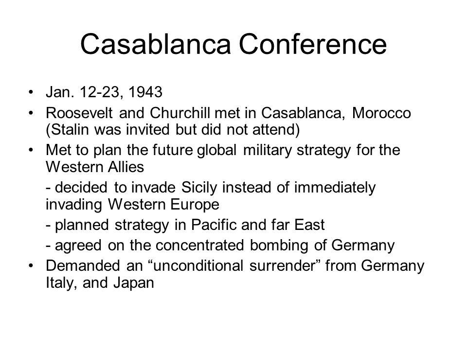 Casablanca Conference Jan.
