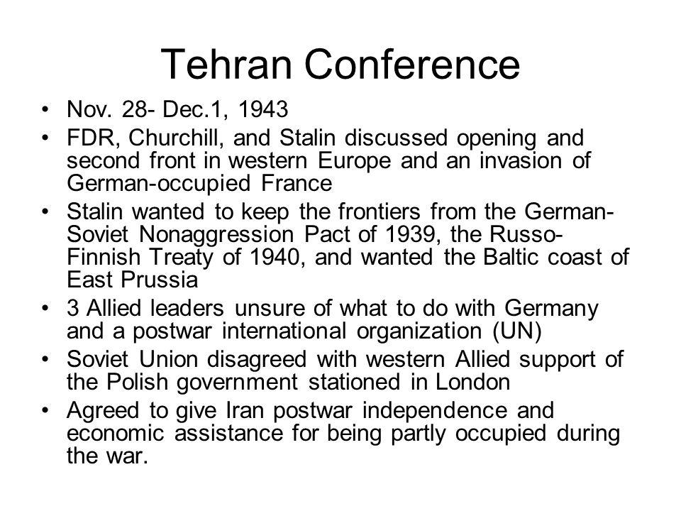 Tehran Conference Nov.