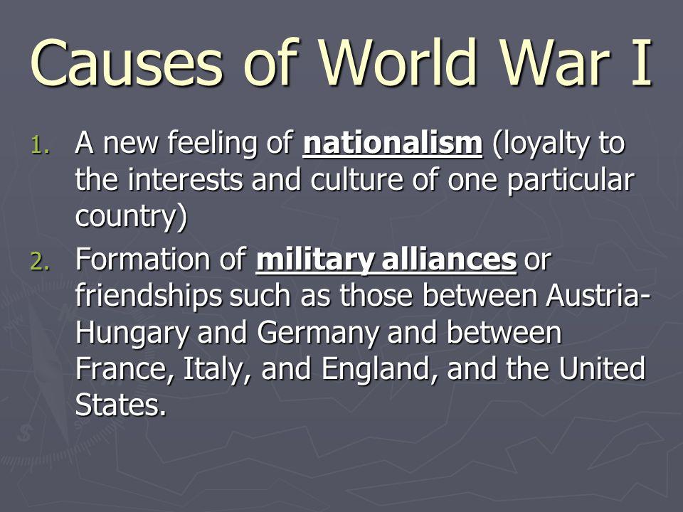 Causes of World War I 3.