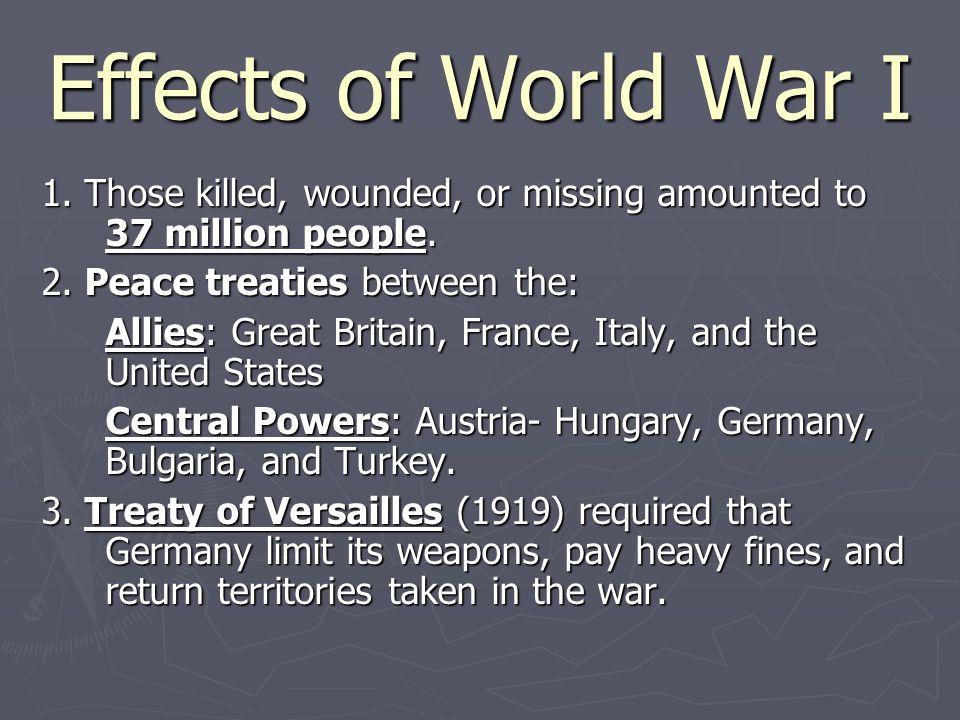 Effects of World War I 4.