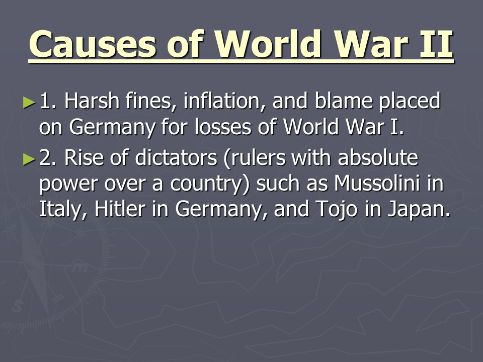 Causes of World War II 3.Fears of Communist expansion in Germany.