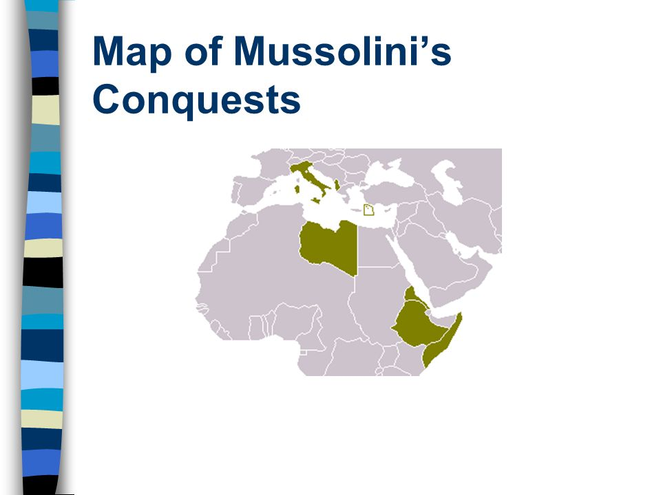 Map of Mussolini's Conquests