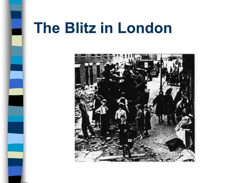 The Blitz in London