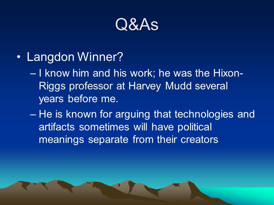 Q&As Langdon Winner.