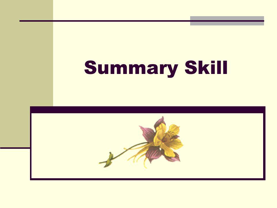 Summary Skill
