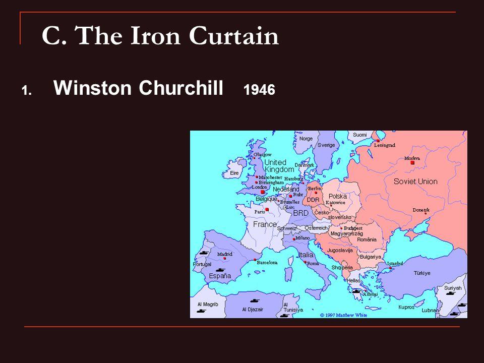 C. The Iron Curtain 1. Winston Churchill 1946