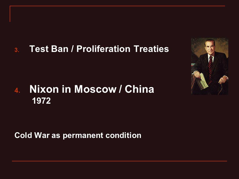 3. Test Ban / Proliferation Treaties 4.